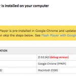 [AS3] Google Chromeで Flash Player の デバッグ版を使いたい