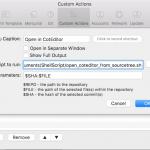 [メモ] SourceTreeで見ている、特定のコミットの特定のファイルをCotEditorで開きたいメモ